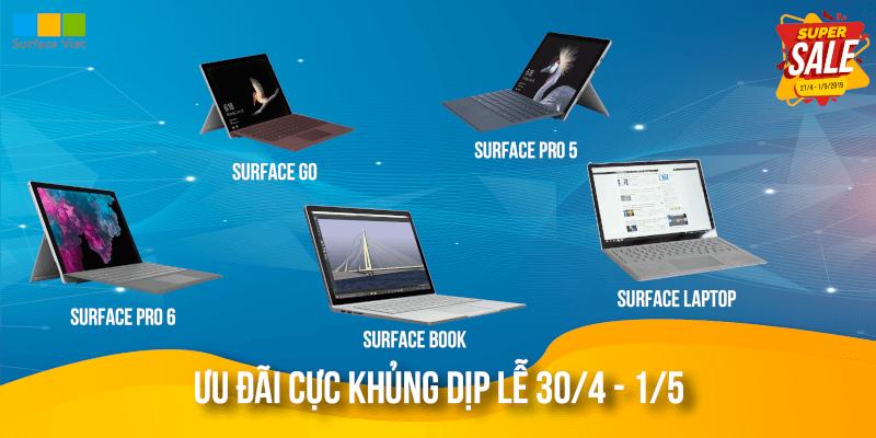 khuyến mãi Surface 30-4 1-5