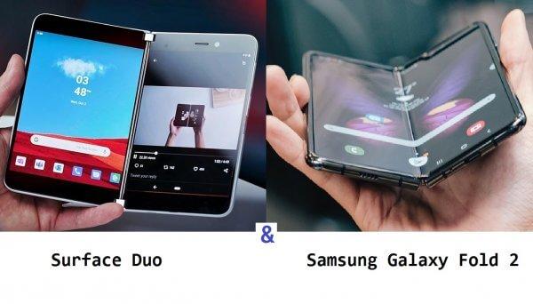 Surface Duo so với Samsung Galaxy Fold 2
